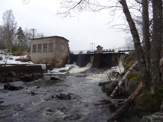 Rydefors kraftstation uppförd 1938. Foto Karl-Oskar Erlandsson.