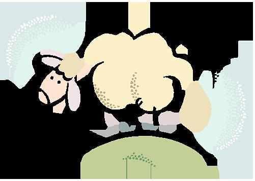 Tecknat får
