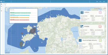 Kartbild över Estland från applikationen PlanWise4Blue.