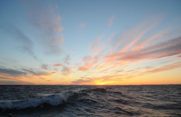 Solnedgång över havet. Foto: Gunnar Åkerlund