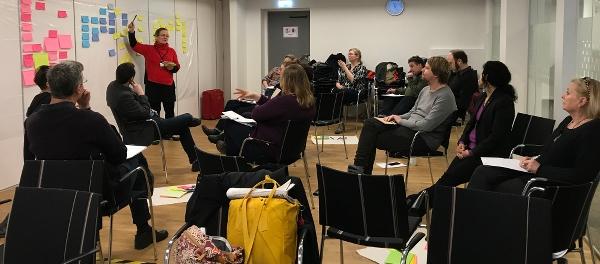 Bild på workshopdeltagare Foto: Jenny Nord