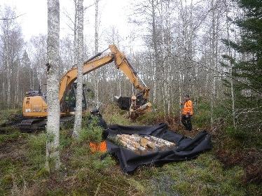 Arbete med en av propparna. Foto: Erik Nordlind