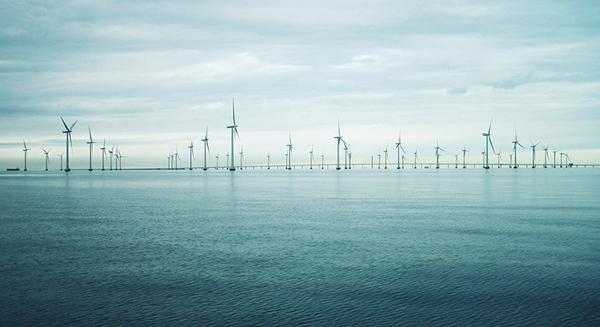 Vindkraftverk ute till havs. Foto: Ingvar Lagenfelt