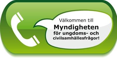 Pratbubblamedtexten:VälkommentillMyndighetenförungdoms-ochcivilsamhällesfrågor