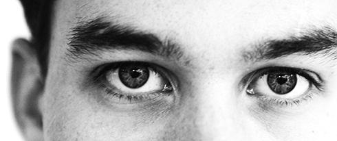 Närbild på ögon.