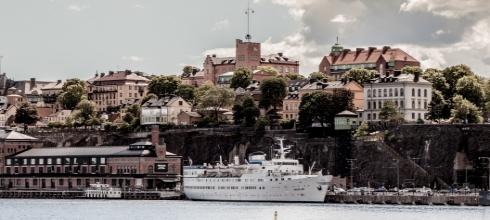 Vy över Ersta Sköndal Bräcke högskola, sedd från Gamla stan