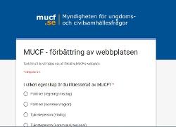 Skärmdump från webbenkäten