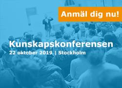 Bild på inbjudan till Kunskapskonferensen 22 oktober i Stockholm