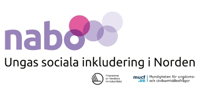Bild p� loggan f�r Nabo-projektet med texten Ungas sociala inkludering i Norden