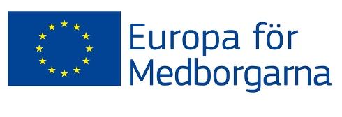 Logga med EU-flagga och texten Europa för medborgarna.