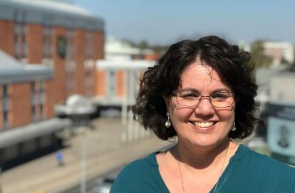 Bild på Ellen Gosdoum, chef för avdelningen internationellt samarbete på MUCF. Foto: Lena Olsson Kavanagh