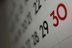 Foto av kalender