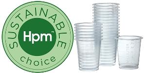 Bild på biobaserade plastbägare