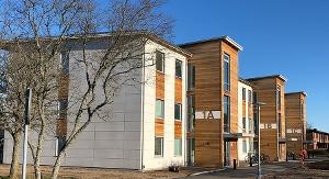Bild på nybyggda hus