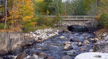 Gullspångsälvens vattensystem. Vattenspegeln är borttaget och forsen är återskapad. Foto: Länsstyrelsen i Örebro län