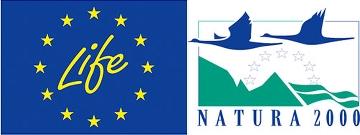 Logotyper för EU:s LIFE-projekt och Natura 2000