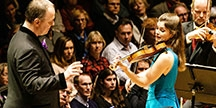Jansen plays Tchaikovsky Violin Concert in the Concert Hall Stockholm. Photo