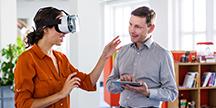 A Virtual Reality test. Photo