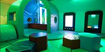 Det sensoriske rommet på Gatwicks flyplass. Foto