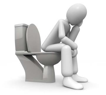 Person på toalett