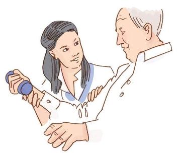 Illustration av övning med hantel