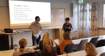 Fredrik Sandlund och Lisa Sand