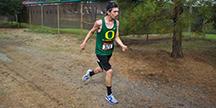 En person som springer. Foto