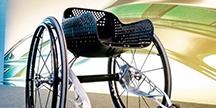 En 3D-utskriven rullstol. Foto