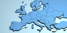 Karta över Europa. Foto