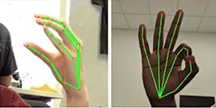 Händer som gör olika tecken på teckenspråk. Foto/Illustration