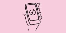 En smartphone. Illustration