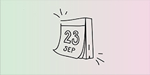 En kalender som visar 23 september. Illustration