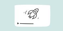 En raket som animeras. Illustration