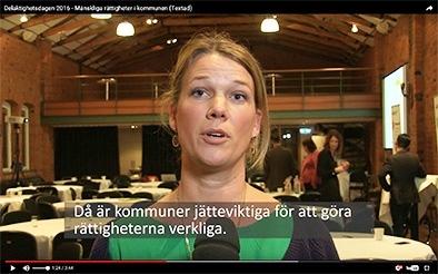 Lina Pastorek, projektledare Myndigheten f�r delaktighet